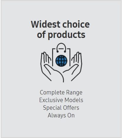 Complete Range  Exclusive Models  Special Offers  Always On