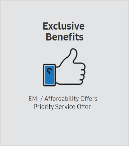 Attractive Cash Backs  Exchange Program via Cashify  EMI / Affordability Offers  Device Insurance